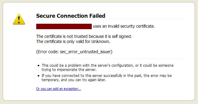 Ivan Ristić: Firefox 3 improves handling of invalid SSL